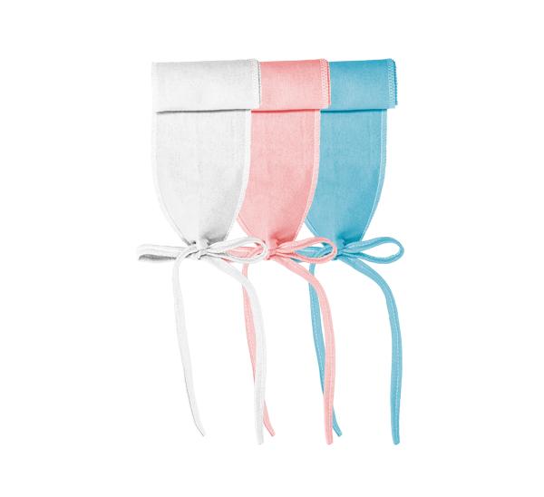 Faixa umbilical. Ref: 16-14. Cores: branco, rosa, azul. Tam: Único. Malha 100% algodão.