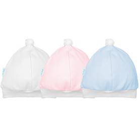 Touca de malha. Ref: 16-28 Cores: menino, menina e neutro Tam: único. 100% algodão
