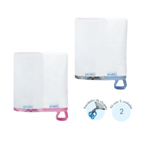 Kit toalha de boca soft. Ref: 16-79 Cores: menino, menina Tam: único. Atoalhado