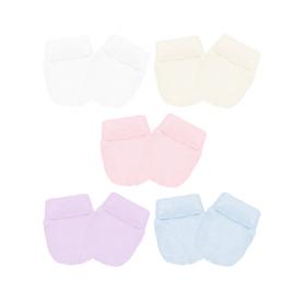 Luva canelada. Ref: 16-9 Cores: branco, bege, rosa, lilás, azul Tam: único.