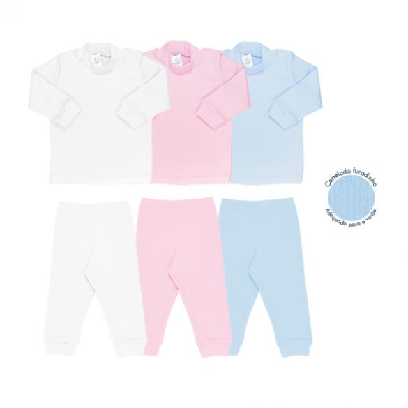 Soft baby Ref: 9-392, 9-393 Tam: RN ao G, 1 ao 3. Cores: branco, rosa, azul (estilo lion)