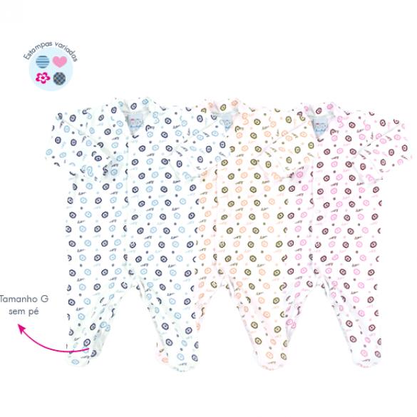 Macacão cotton Ref: 15-473 Tam: RN ao G Cores: menino, neutro, menina